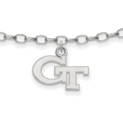 Georgia Tech Yellow Jackets Anklet in Sterling Silver 3.14 gr