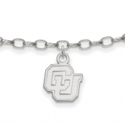University of Colorado Buffaloes Anklet in Sterling Silver 3.20 gr
