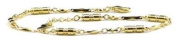 Gold Plated Diamond Cut - Magnetic Therapy Anklet