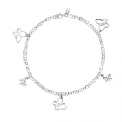 Sterling Silver Butterfly Charm Anklet