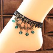 Gothic Stylish Ankle Bracelet, Fascigirl Beaded Pendant Sexy Lace Anklet Bracelet Barefoot Sandal Beach Foot Jewellery for Women