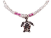 Charming Shark Womens Beads with Turtle Anklet 23cm Pink
