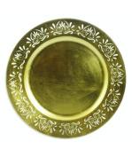 Galileo Casa Antique Underplate, Melamine, Gold, 33 x 33 x 2 cm