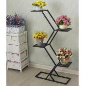 LQQGXL American village retro iron scaffolding ladder floor multilayer shelf Flower stand