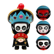 Changing Faces Dolls Key Chain, 4 Face Finger Toy Sichuan Opera Traditional Creative Chinese Opera Face