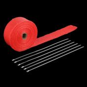 Fibreglass Exhaust Header Fibreglass Heat Wrap Tape+6 Ties Kit Durable