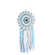 Blue Lace Tassels Handmade Dream Catcher Wall Hanging Home Car Decor Craft