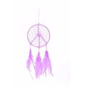 Handmade Pink Feather Dream Catcher Feather Car Wall Hanging Decor Craft