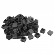 100pcs 20mm Box Section Plastic Blanking End Caps Square Tube Plug Bung Insert