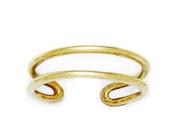14k Yellow Gold Adjustable Double Row Body Jewellery Toe Ring