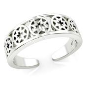 Sterling Silver Celtic Cross Adjustable Toe Band Ring