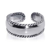 Sterling Silver 7MM Braided Rope Adjustable Toe Ring