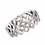 Ladies New .925 Sterling Silver Continuous Heart Knot Toe Ring - Sizes 1.5-5.5