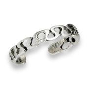 Women's New .925 Sterling Silver Curvy Filigree Summer Toe Ring