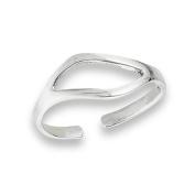 Women's New .925 Sterling Silver Modern Freeform Toe Ring