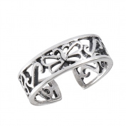 Women's New .925 Sterling Silver Filigree Butterfly Toe Ring