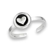 Women's New .925 Sterling Silver Heart Cuff Toe Ring