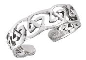 Women's New .925 Sterling Silver Intricate Celtic Knot Toe Ring