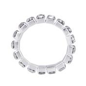 THZY Elastic Silver Tone Single Row Rhinestone Toe Ring Bridal Jewellery