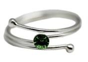 Green Coloured Single Rhinestone Toe Ring
