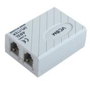 Unique Bargains6P2C RJ11 Line ADSL Modem Phone Telephone Adapter Filter Splitter