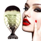 1PCS Fish Scale Makeup Brush Fishtail Bottom Brush Powder Blush Cosmetic Brush