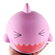 UBabamama Kawaii 15cm Big Lovely Happy Shark Vent Hand Scented Squishy Slow Rising Squeeze Toys Simulation Decompression Fun Collection For Kid Adults
