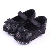 Newborn Baby Girl Boy Casual Shoes Bowknot Paillette Anti-Slip Soft Shoes Sneaker