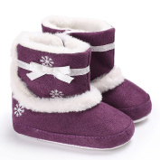 Tangbasi® Bowknot Toddler Baby Girls Boots Winter Warm Soft Soled Crib Shoes