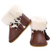 Tangbasi® Toddler Newborn Girls Snow Boots Winter Warm Prewalker Soft Crib Shoes Anti-Slip