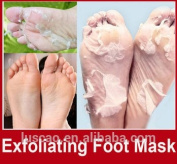 Exfoliating Foot Peel Mask and Intensive Moisturising Foot Pack Treatment set by 5kind, 2 Pairs-Dead Skin Remover Exfoliate Calluses Have Baby Soft Touch Feet
