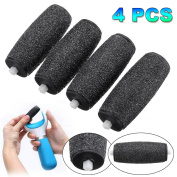 Mineral replacement rollers, 4 pieces Pedi rollers Extra coarse for Scholl Velvet Smooth Diamond replacement rollers Heads skin remover Pedicure refills