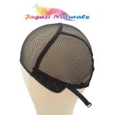 Full Wig Cap. Adjustable Strap. Stretchy Cap. Durable Weaving Cap. No Part Net Mesh. Black Medium Wig Cap.