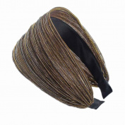 Women Girls Broadside Cloth Headband Hairbands Wide Hair Accessories Hair Dress Minzhi