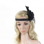 Women Indian Feather Headband with Elastic band for the Costume Party Minzhi
