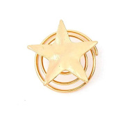 6pcs Golden Five-pointed Star Spring Clip Pearl Screw Clamp Hairpin Hair clip Minzhi
