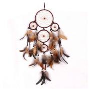 Handmade Dream Catcher Feathers Wall Hanging Decoration Ornament Gift Minzhi