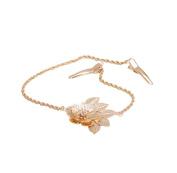 Milopon Hair Chain Hair Clips Flower Metal Headband Hair Jewellery for wedding Party