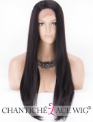 Chantiche L - Part Natural Straight Long Lace Front Wigs for Women Black Synthetic Wig Side Part Fibre Hair #1B