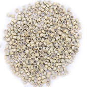 5mm Micro Rings Silicone Lined Beads Beige 1000pcs/pack Micro Link Rings for Feather Hair & I Tip I Stick Pre Bonded Human Hair Extensions Installation