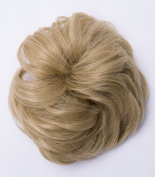 Hot Fashion Hair Extensions Hairpiece Hair Rubber Scrunchie Scrunchy Updos VOLUMINOUS Curly Messy Bun Ash blonde