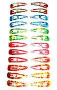 24 Hair Clips Multi-Colour (Hairpins) Modern Design (5 x 1 cm) High Quality