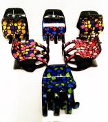 6 Of Hair Clips (pinzotos) Multi-Coloured Modern Design