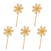 Sharplace Flower Bridal Hair Pins Hair Accessories for Bridal Hairstyle Communion Wedding Christening Party