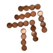 Sharplace 6pcs Vintage Antique Copper Brass Hair Barrette Clips Cabochon Base Setting