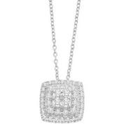 Keepsake Quadri 1/3 Carat T.W. Certified Diamond 10kt White Gold Pendant