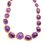 Piara 151 ct Amethyst Necklace in 18kt Gold-Plated Sterling Silver