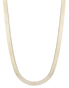 10k Yellow Gold Super Flexible Silky Herringbone Chain Necklace for Women and Men, 0.28""