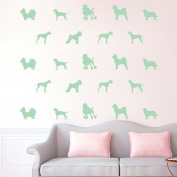 2SETS Luminous Wall Stickers Glowing Puppies Stickers Creative Children's Room Bedroom Home Decor