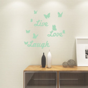 Luminous Wall Stickers Luminous English Letters Butterflies Stickers Creative Children's Room Bedroom Home Decoration